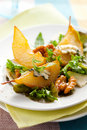 Salad with pears and blue cheese Royalty Free Stock Images