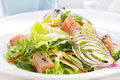Salad of pink salmon Royalty Free Stock Photo