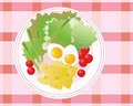 Salad plate Royalty Free Stock Images