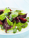 Salad plate with beet lettuce shallow dof Stock Photography