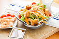Salad with prawn Royalty Free Stock Photo