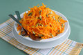 Salad of pumpkin and carrot with pumpkin seeds Royalty Free Stock Photo