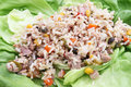 A salad of rice and tuna fish Royalty Free Stock Photo