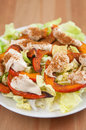 Salad with roasted pumpkin and tahini healthy Stock Photography