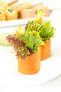 Salad roll appetizer at on background Royalty Free Stock Photos