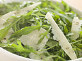 Salad of Roquette Leaves and Parmesan Shavings Stock Images