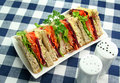 Salad Sandwiches Royalty Free Stock Image