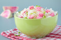 Salad of sauerkraut and pink radish Royalty Free Stock Photos