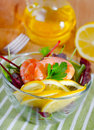 Salad with shrimp Stock Photos