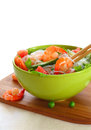 Salad with shrimp,rice noodles and vegetables Royalty Free Stock Photo