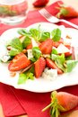 Salad with strawberries,gorgonzola Royalty Free Stock Photo