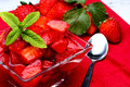 Salad with strawberry Royalty Free Stock Photo