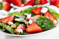 Salad with strawberry Stock Image