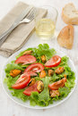 Salad tomato with mussels Stock Photography