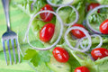 Salad of tomatoes and cucumbers Stock Image