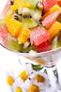 Salad from tropical different fruit Royalty Free Stock Images