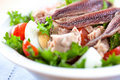 Salad with tuna and anchovy Stock Photos