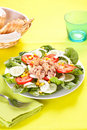 Salad tuna tomato corn and onion Stock Photos