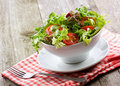 Salad with vegetables and greens Stock Photos