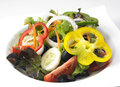 Salad with vegetables and greens Stock Image