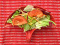 Salad with vegetables and spices Royalty Free Stock Photography