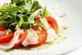 Salade de caprese avec rocket salad Photos libres de droits