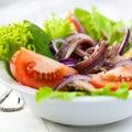 Salade végétale avec l'anchois Photographie stock libre de droits