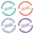 Salads badge isolated on white background.