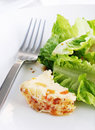 Salads greens and nutty cheese Royalty Free Stock Photo