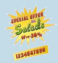 Salads promotional sticker