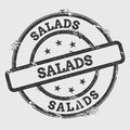 Salads rubber stamp isolated on white background.