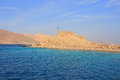 Salah el din fortress on pharaoh island in egypt Royalty Free Stock Image