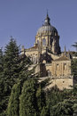 Salamanca cathedral december new view built in on late gothic and baroque styles city of castilla and leon region population Royalty Free Stock Image
