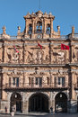 Salamanca city hall salamamca december facade on plaza mayor built in on baroque style architecture designed by alberto Royalty Free Stock Photography