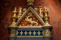 The salamander emblem of françois i castle of blois loire valley france Royalty Free Stock Image