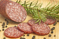 Salami of deer Stock Photos