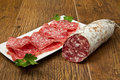 Salami sliced Royalty Free Stock Photo