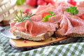 Salami snack Stock Images