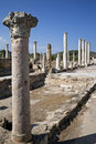 Salamis Roman Ruins - Turkish Cyprus Royalty Free Stock Image