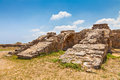 Salamis ruins in northern cyprus Royalty Free Stock Photos