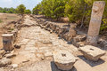 Salamis ruins in northern cyprus Stock Photos