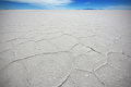 Salar de uyuni bolivia the salt crystalises at salt lake of in Stock Photography