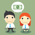 Salary robot vector illustration of Royalty Free Stock Image