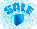 Shopping bag with sale Royalty Free Stock Photo