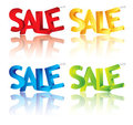 Sale 3d text Stock Image