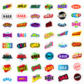 Set of sale signs Royalty Free Stock Photo