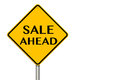 Sale Ahead Sign Royalty Free Stock Photo