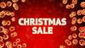 Sale on background with christmas ornaments word red and Royalty Free Stock Images