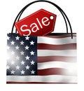 Sale bag america creative image design Stock Photos