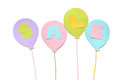 Sale balloon paper cut on white background Royalty Free Stock Photo